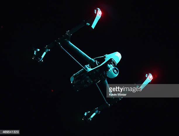 Drone is seen during day 3 of the 2015 Coachella Valley Music & Arts Festival at the Empire Polo Club on April 12, 2015 in Indio, California.