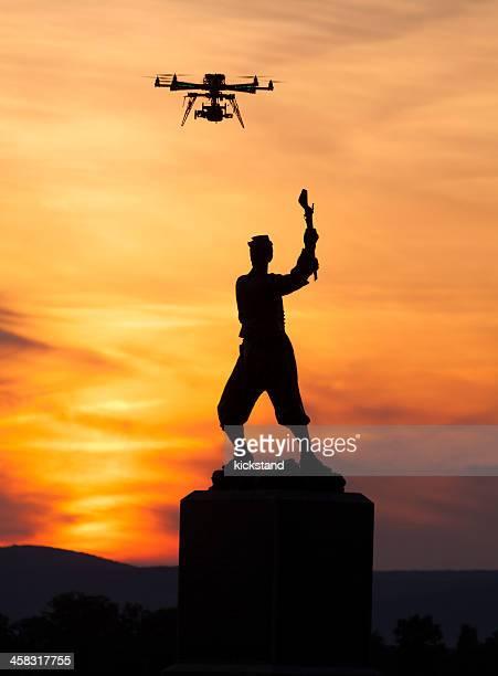 ドローン、ゲティスバーグ - オクトコプター ストックフォトと画像