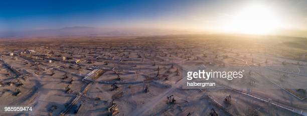 Drone Panorama of Oil Field