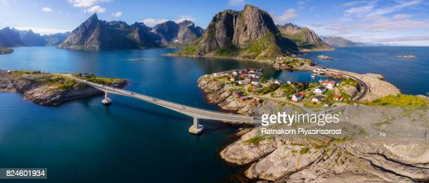 Drone Panorama View of Lofoten