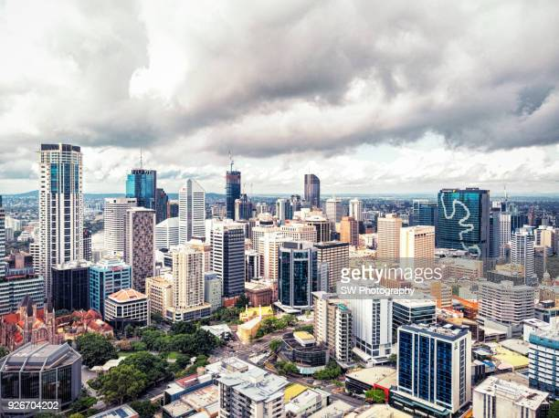 Drone photo of Brisbane city
