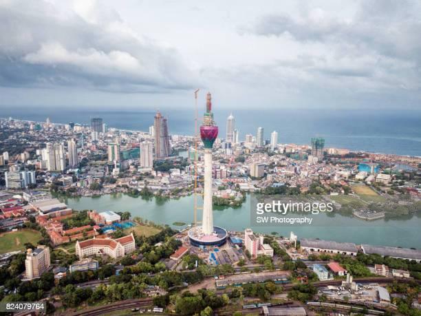 Drone photo of Colombo city, Sri Lanka