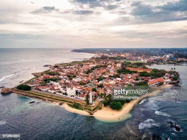 drone photo of galle city, sri lanka - ゴール市 ストックフォトと画像
