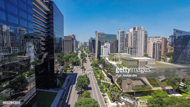 drone photo of google brasil headquarters in sao paulo - headquarters stock pictures, royalty-free photos & images