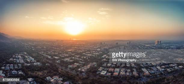 Drone photo of Islamabad city, Pakistan