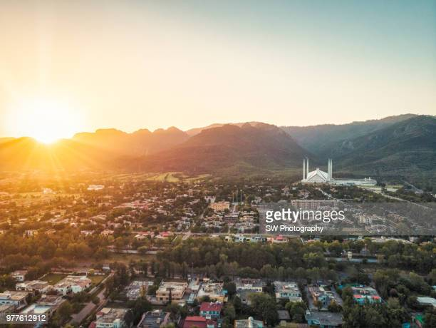 drone photo of islamabad city, pakistan - islamabad stock pictures, royalty-free photos & images