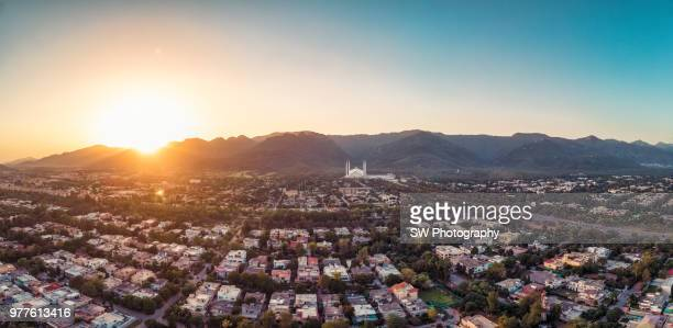 Drone photo of Islamabad city, Pakistan