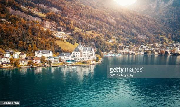 Drone Photo of Lucerne city, Switzerland
