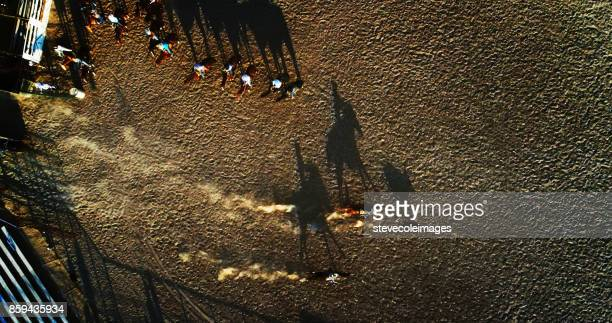 drone photo of rodeo. - bronco stadium stock pictures, royalty-free photos & images