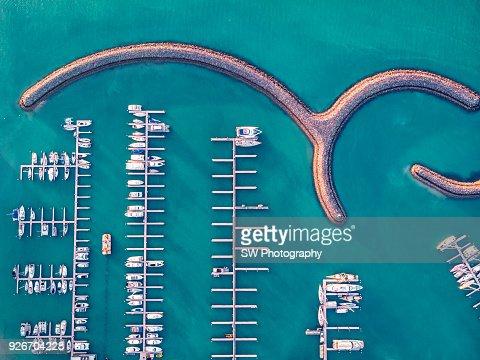 Drone photo of the Arlie beach port