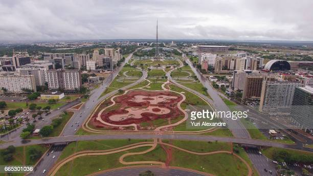 Drone photo of Torre de TV in downtown Brasilia