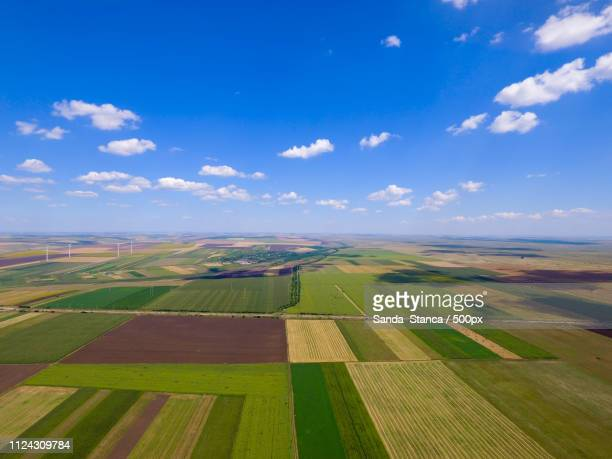 drone photo quad in a field in summer - posbank ストックフォトと画像