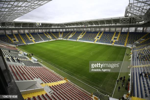 A drone photo shows an inside view of the newly established site of the Eryaman Stadium with 62 thousand and 255 meters squared area in Eryaman...