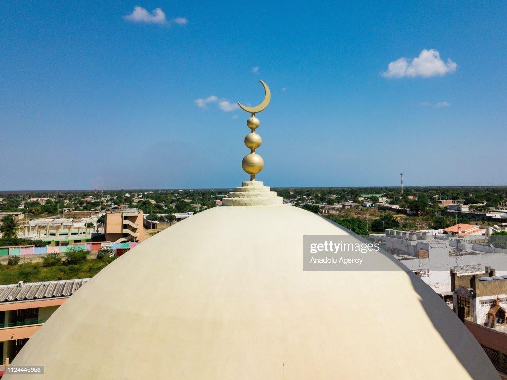 A drone photo shows Omar Ibn Al Khattab mosque in Maicao, La