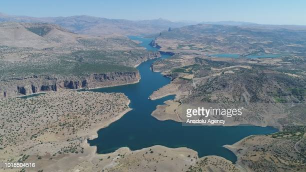 Drone photo shows Takoran Valley in Sanliurfa, Turkey on August 12, 2018. 20-kilometer-long Takoran Valley located at Sanliurfa's Siverek district...