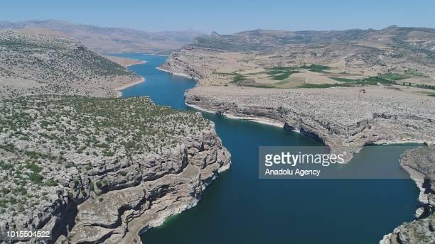 A drone photo shows Takoran Valley in Sanliurfa Turkey on August 12 2018 20kilometerlong Takoran Valley located at Sanliurfa's Siverek district and...