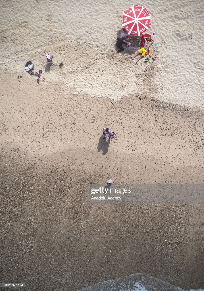 A Drone Photo Shows The Aerial View Of Black Sea Beaches Istanbul As People
