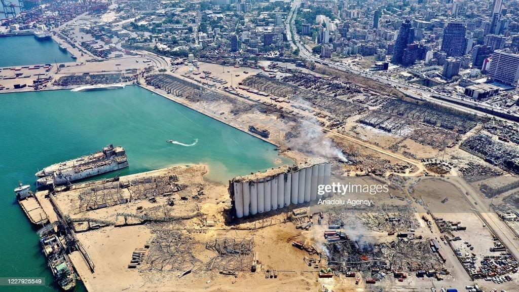 Massive explosion at Beirut Port : News Photo
