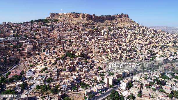 A drone photo shows Turkey's Mardin province on July 26 2018 Mardin known as City of Tolerance has hosted a million 300 thousands tourists last eight...
