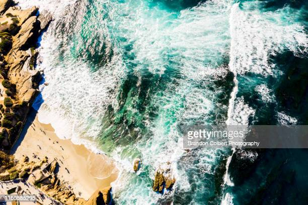 drone photography san diego - la jolla stock pictures, royalty-free photos & images