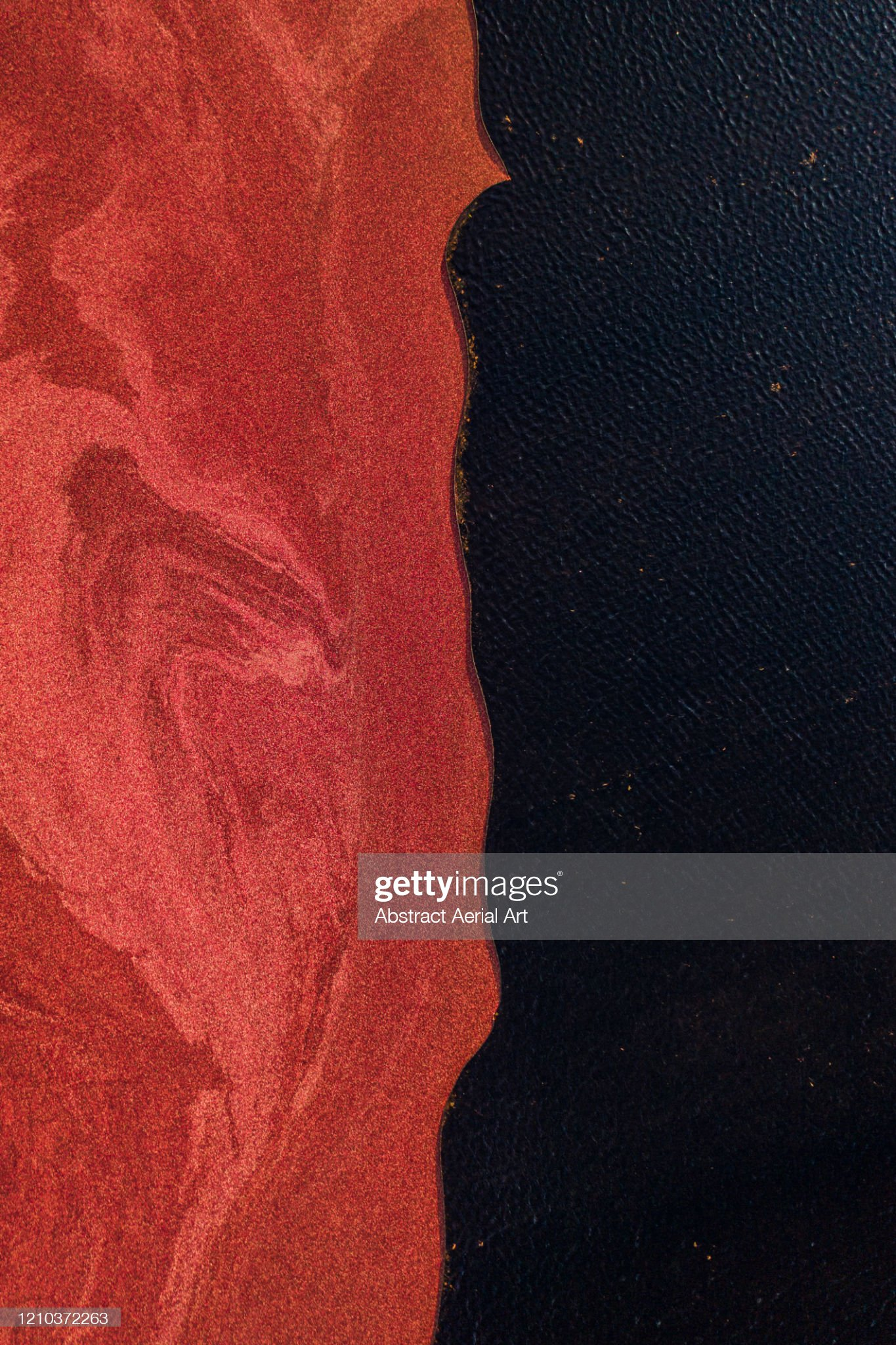 Drone shot above the edge of a cranberry bog, Massachusetts, United States of America : Stock Photo