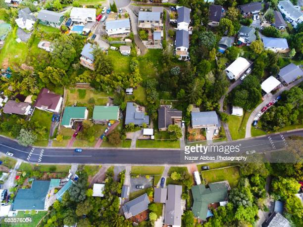Drone View Of Auckland Housing.