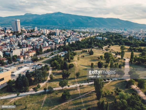 Drone view of Eastern Europe