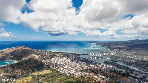 Drone view of Hawaii, Oahu, Honolulu