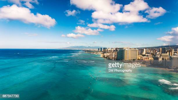 Drone view of Hawaii, Oahu, Honolulu