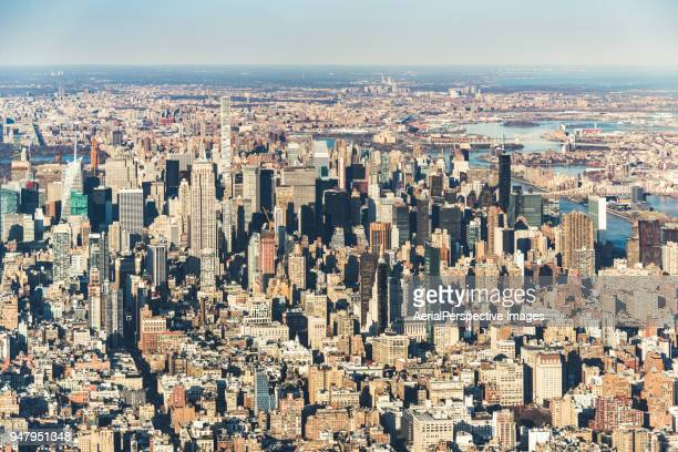 Drone View of Midtown Manhattan, NYC