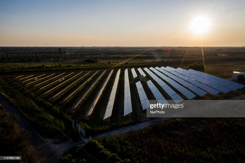 Solar Farm In Salento : News Photo