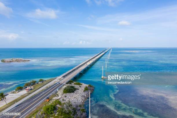 drone view of the florida keys, usa - florida keys stock pictures, royalty-free photos & images