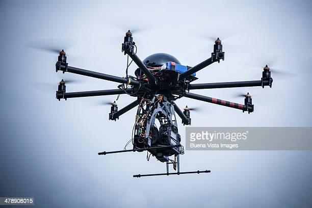 drone with camera - オクトコプター ストックフォトと画像
