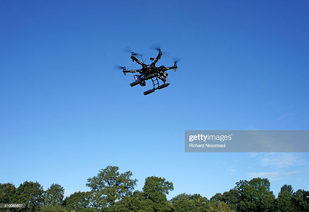 Drone with Camera : Stock Photo