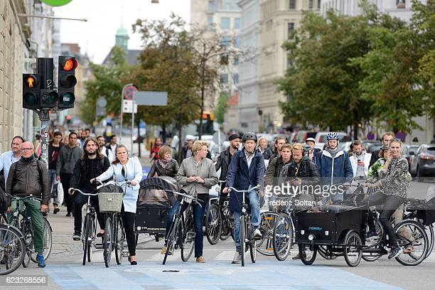 Dronning Louise's Bro connects inner Copenhagen and Nørrebro and is frequented by many cyclists and pedestrians every single day on November 9 2016...