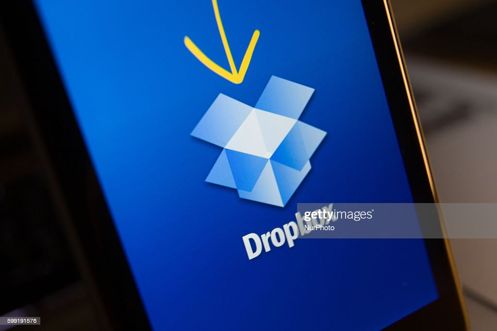 Dropbox, a file sharing app has recently been under scrutiny after over 70 million of its users credentials were hacked. Bydgoszcz, Poland on September 4 2016.