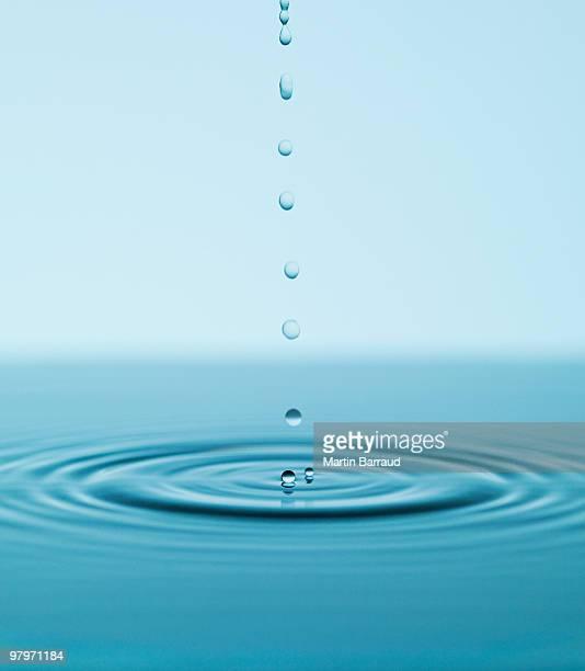 ドロップ落ちると波打つ水のプール