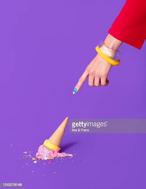 dropped ice cream - bad luck stock pictures, royalty-free photos & images