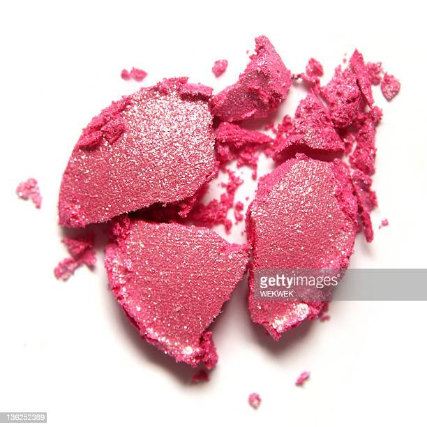 a dropped pink eye shadow that is smashed - smudged stock pictures, royalty-free photos & images