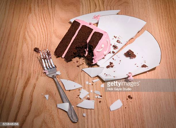 Dropped Plate and Cake Slice