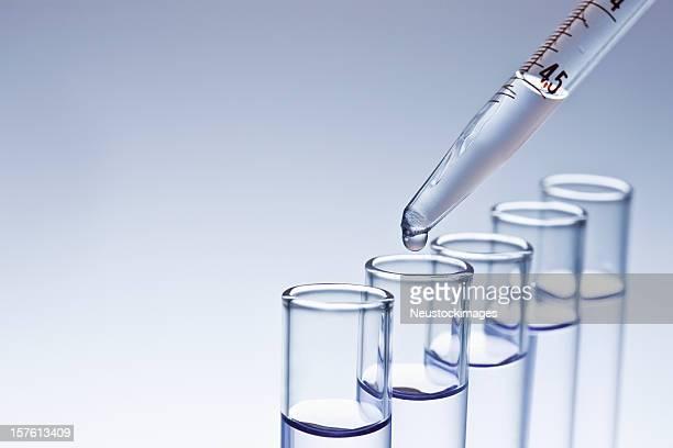 Dropper Filling Test Tubes