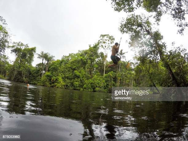 dropping into the amazon river