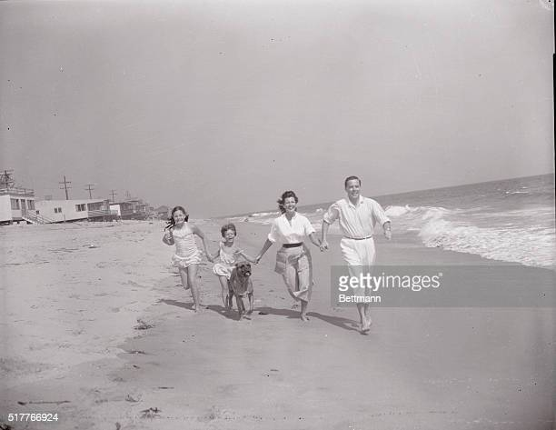 Dropping of deportation case against him by the US government has opened a new life to Dick Haymes whose happiness is shared by his family here...