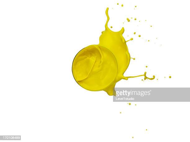 Dropping of the yellow paint