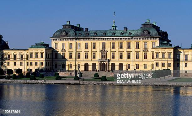 Drottningholm Castle begun in 1662 by architects Nicodemus Tessin the Elder and Nicodemus Tessin the Younger Sweden
