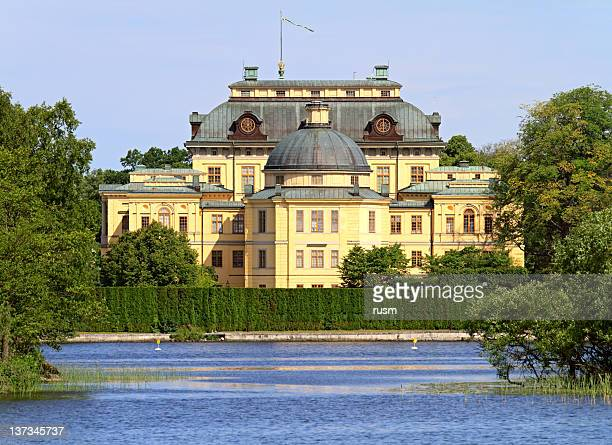 drottningholm castle - royalty sweden stock photos and pictures