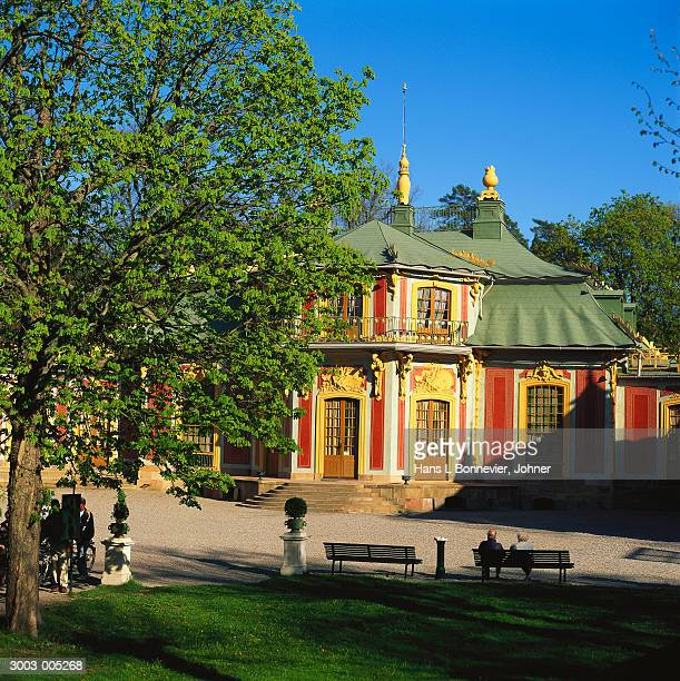 drottningholm chinese pavilion - drottningholm palace stock pictures, royalty-free photos & images