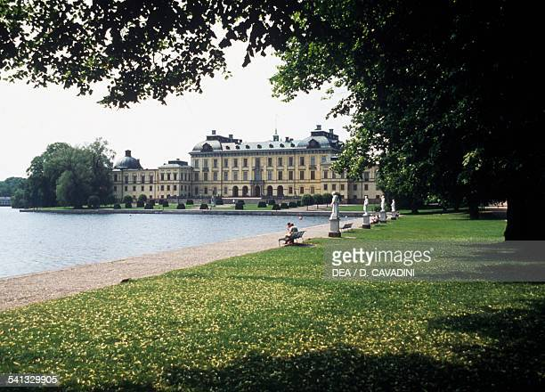 Drottningholm Palace 17th century residence of the Swedish royal family Lovon island Sweden