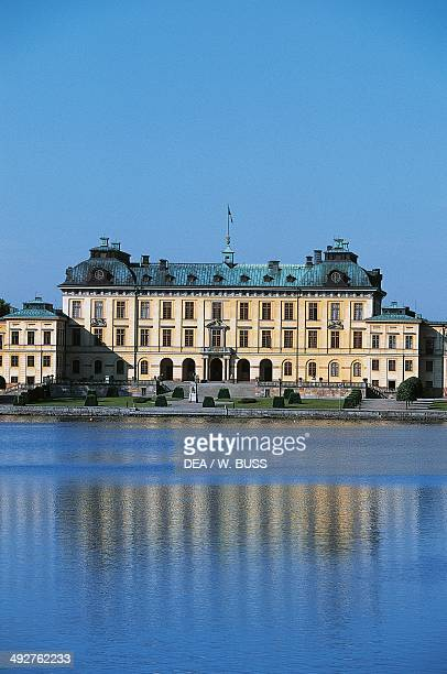 Drottningholm Palace architect Nicodemus Tessin the Elder overlooking Lake Malaren near Stockholm Sweden