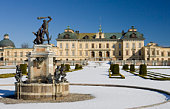 Drottningholm palace in winter